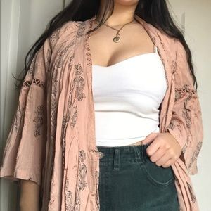 Tops - Dusty rose coverup